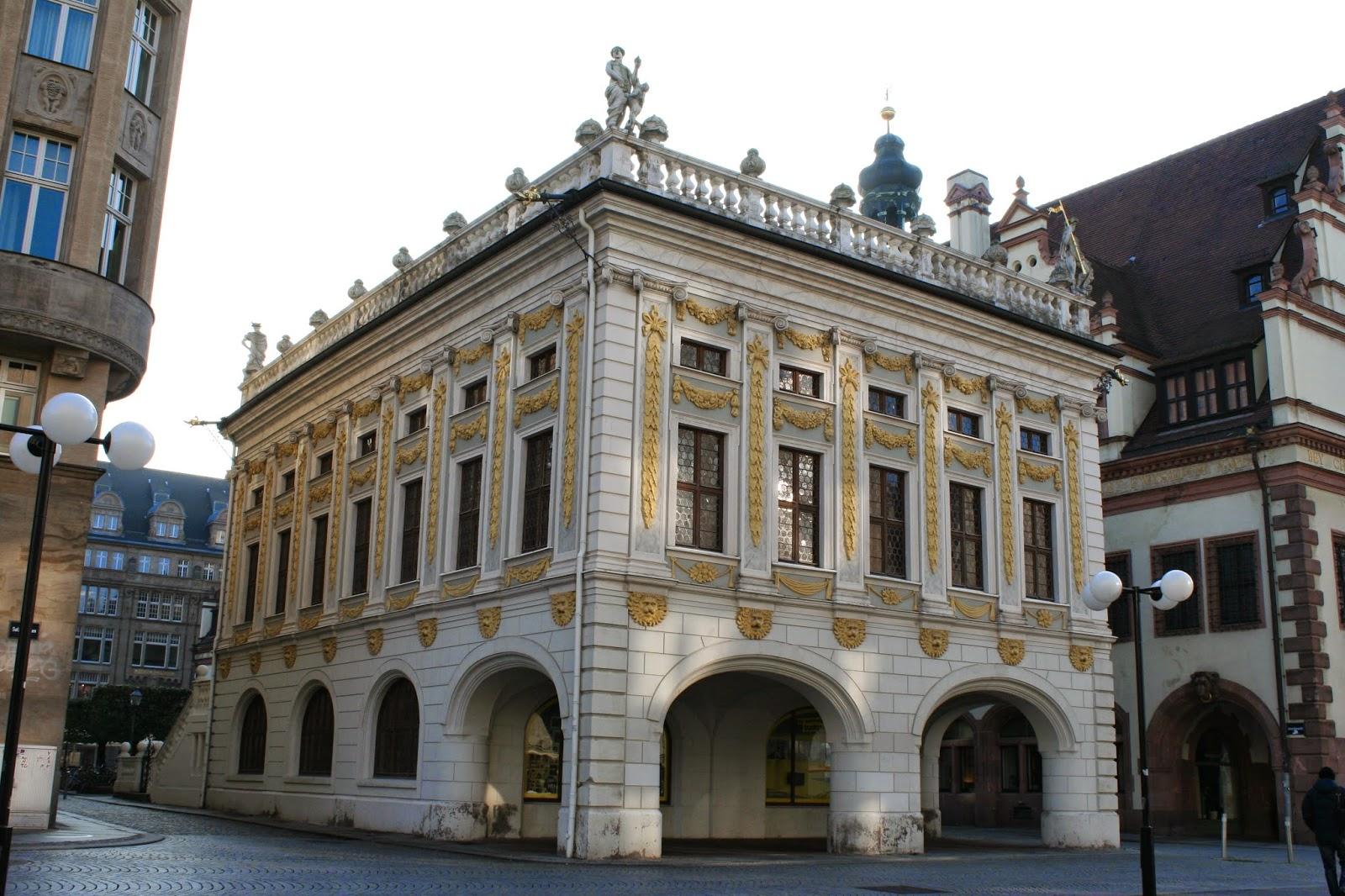 Alte Handelbörse Leipzig zwischen Rathaus und Handelshof