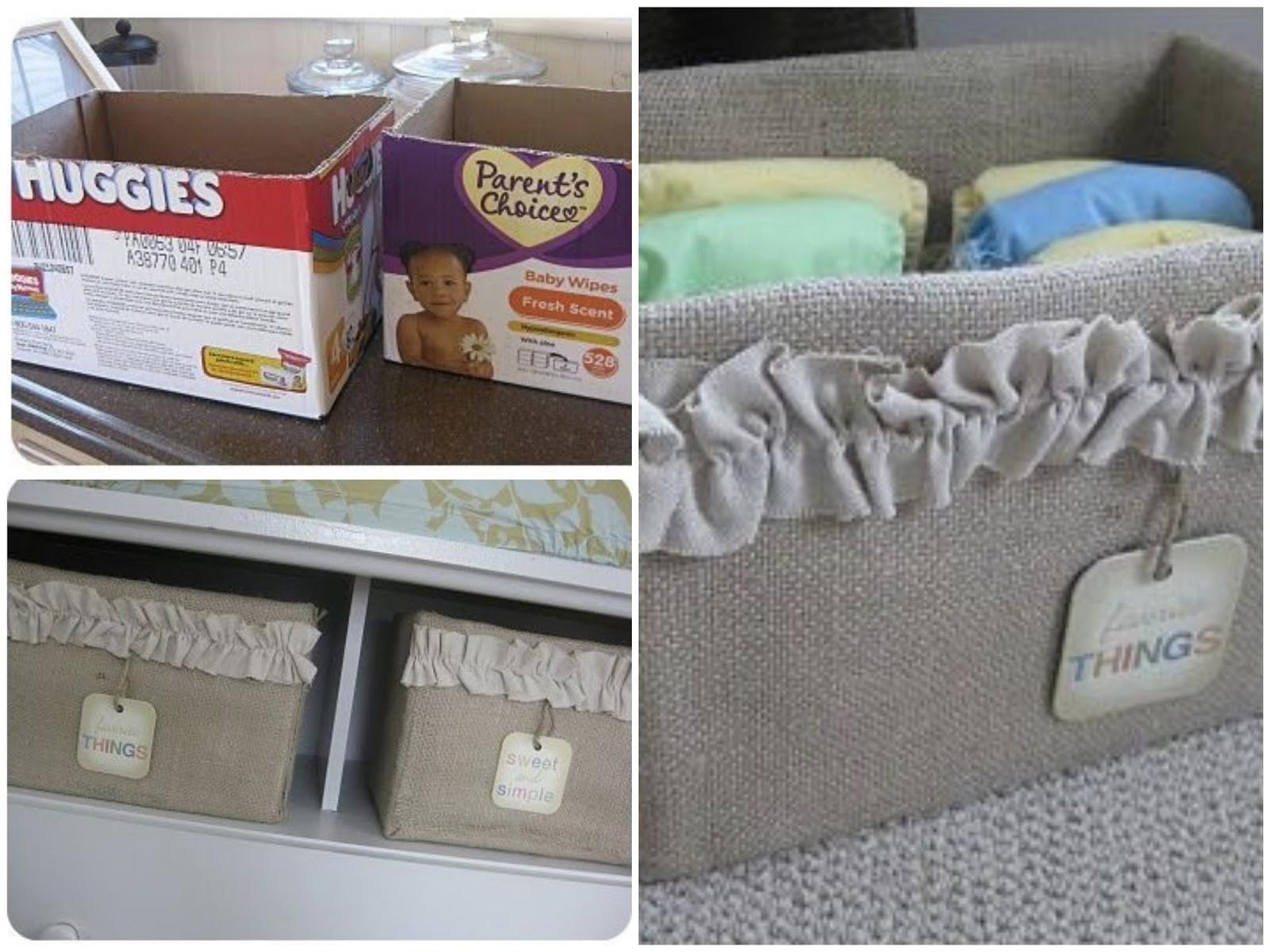 C mo hacer un cesto organizador reciclando una caja de for Forrar cajas de carton con tela