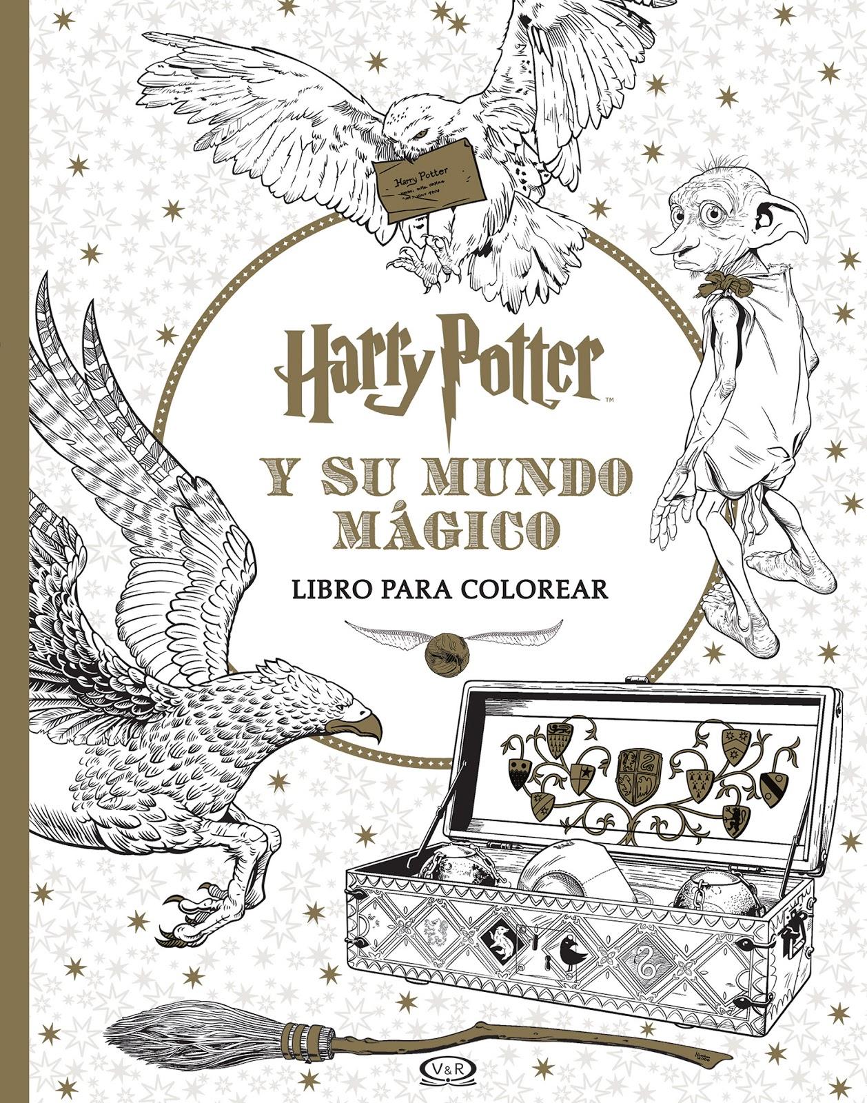 Harry Potter Y Su Mundo Mágico Libro Para Colorear Ya Está En
