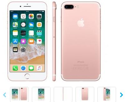 iPhone 7 Plus Apple 32GB Ouro Rosa 4G Tela 5.5""