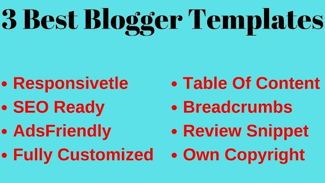 3 Best Customized Templats For Blogger Free | Branded Patil
