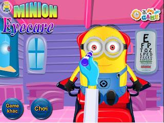 Chơi game khám mắt Minion cực vui