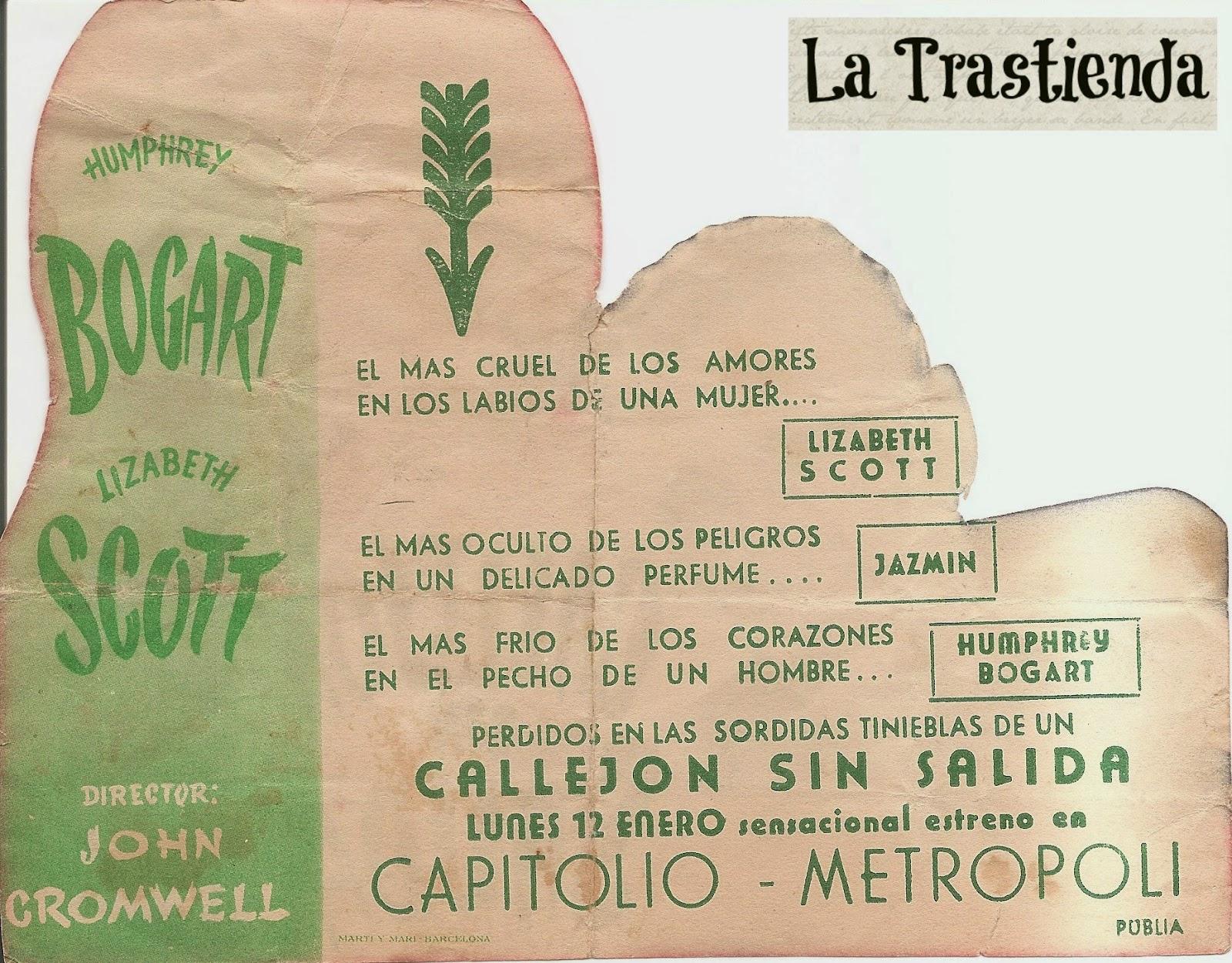 Programa de Cine - Callejón Sin Salida - Humphrey Bogart - Lizabeth Scott