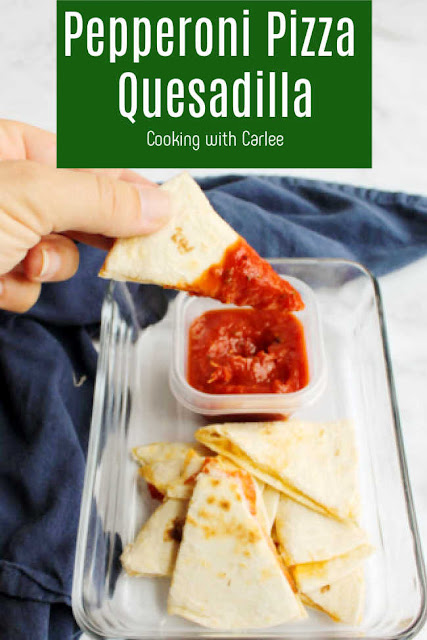 Lunch just got better with these quick and easy pizza quesadillas. They are perfect for lunchboxes, after school snacks and more!