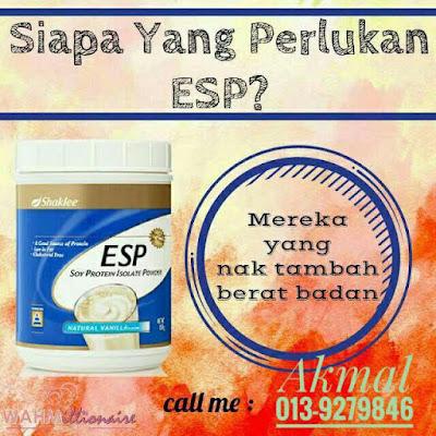 ESP Shaklee bantu tambah berat badan secara sihat