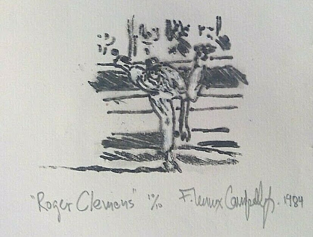 Roger Clemens - 1984 litho by F. Lennox Campello