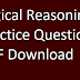 Logical Reasoning Practice Questions PDF Download