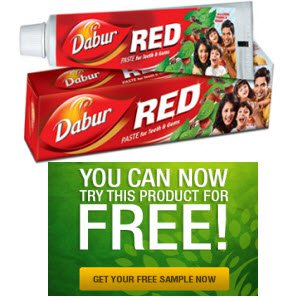 Free Sample of Dabur Red Tooth Paste