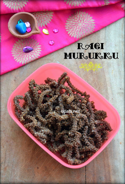 Ragi Murukku/Ragi Chakli/Finger Millet Murukku