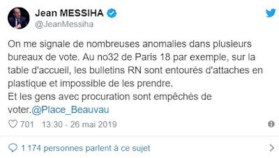 Élections européennes 2019 : des fraudes électorales ont pénalisé le RN et d'autres partis !!!