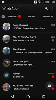 Whatsapp Black Mod Black WA Apk v2.17.254