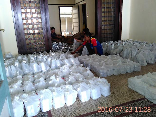 Snack Sebanyak 350 Paket Siap di Distribusikan
