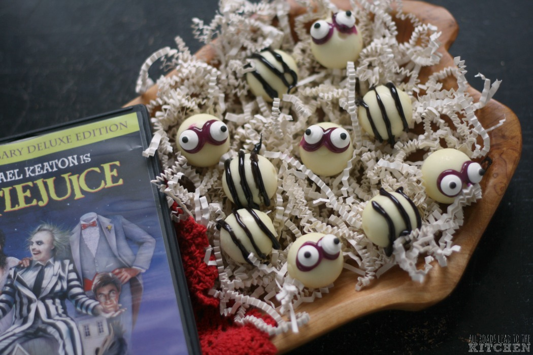 Easy Beetlejuice Truffles #FoodnFlix