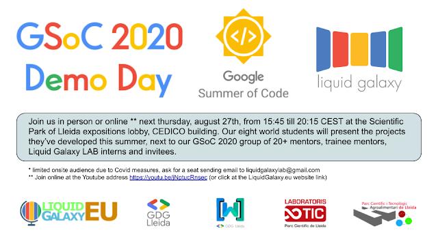 Liquid Galaxy project Google Summer of Code 2020 demo day
