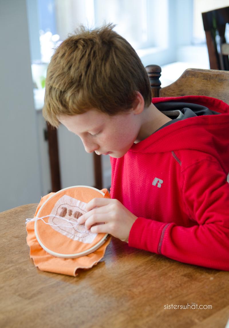 teach children embroidery