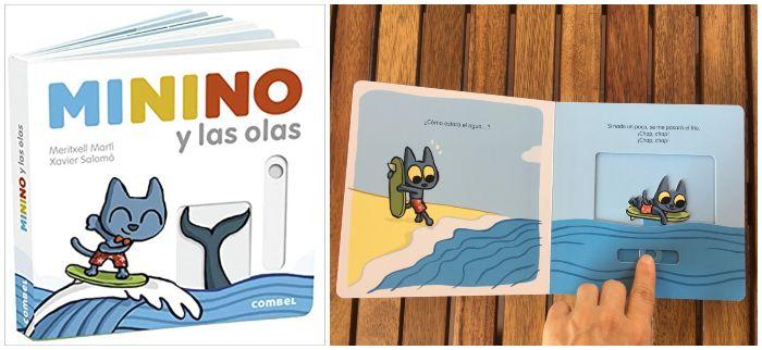 cuento infantil Minino y las olas Combel