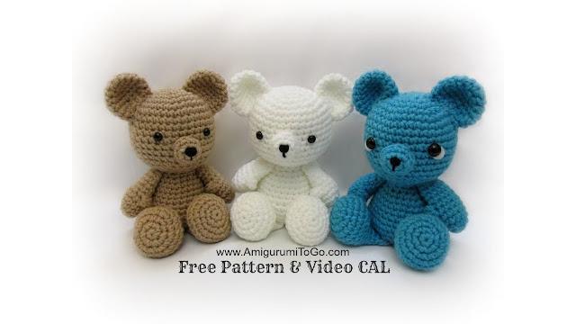 Ursinho de crochê | Urso de crochê, Amigurumi de animais de crochê ... | 360x640