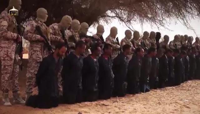 داعش يعلن عن ذبح 11 شهيدا من مسيحيين نيجيريا