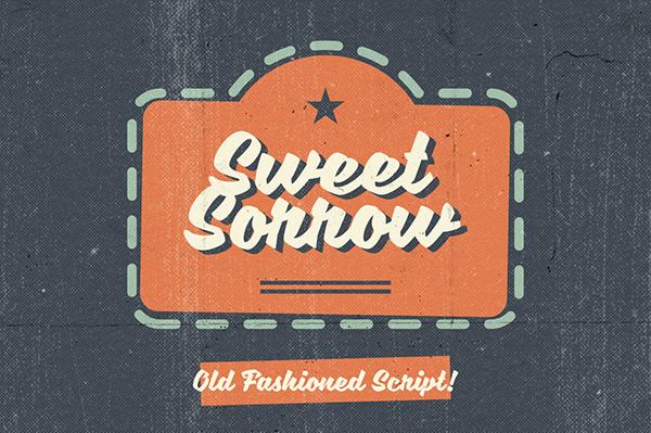 20 Script Font Terbaik 2016 - Sweet Sorrow Font