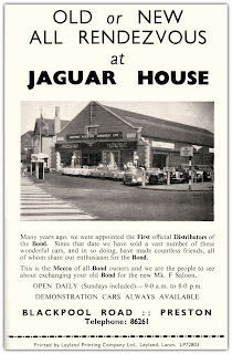 Jaguar House, Blackpool Road, Preston 1958