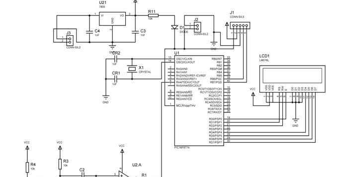 heart beat monitor circuit diagram