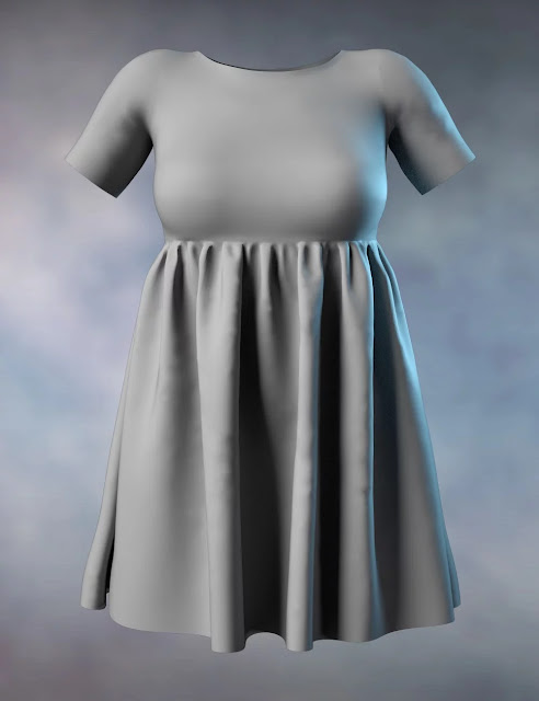 P3D Janet and dForce Dress for Genesis 8 Female