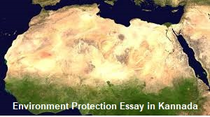 Environment Protection Essay in Kannada