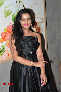 Actress Manasa Himavarsha Pictures in Black Short Dress at The Great Hydrerabad Life Style EXPO II  0022.JPG