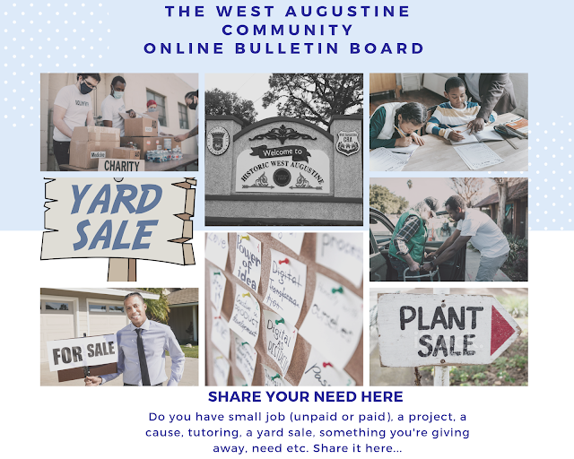 West Augustine Community Online Bulletin Board Collage
