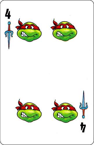 Baraja infantil Las Tortugas Ninja Fournier Carta Raphael 4