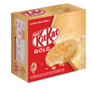 KITKAT Gold, Nestlé Ice Cream is also proud to launch the KITKAT Gold Ice Cream,