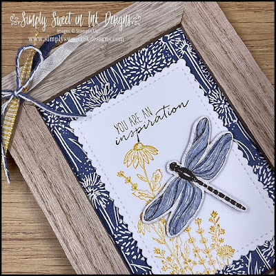 Fun framed home decor project with the Dragonfly Garden bundle!
