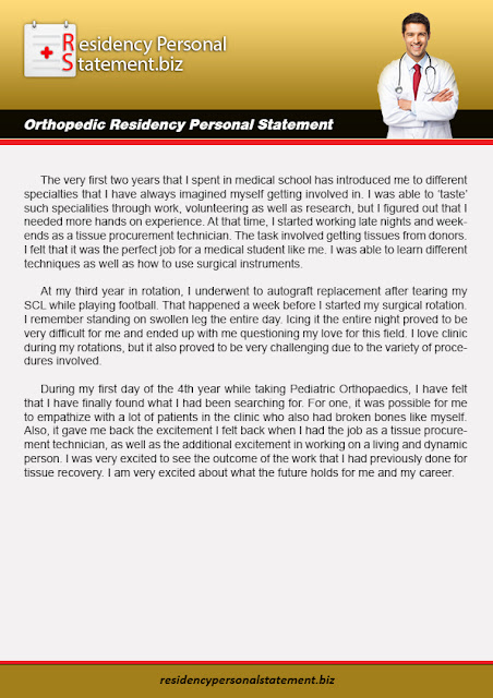 Residency Personal Statements Tips: The 5 Most Successful Orthopedic ...