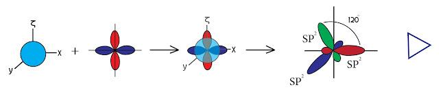 المدار الهجين sp²