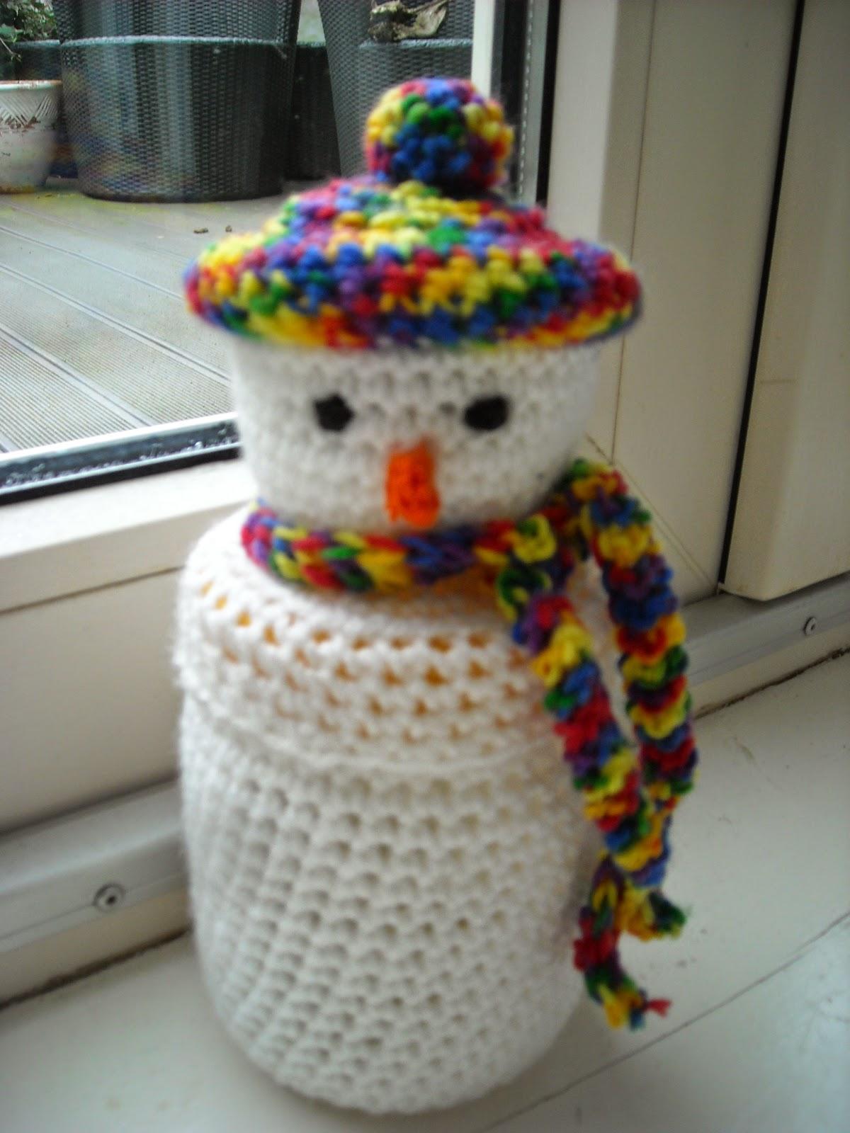 Gratis Patronentinekeshaakpatronen Haakpatroon Sneeuwpopje Om Een