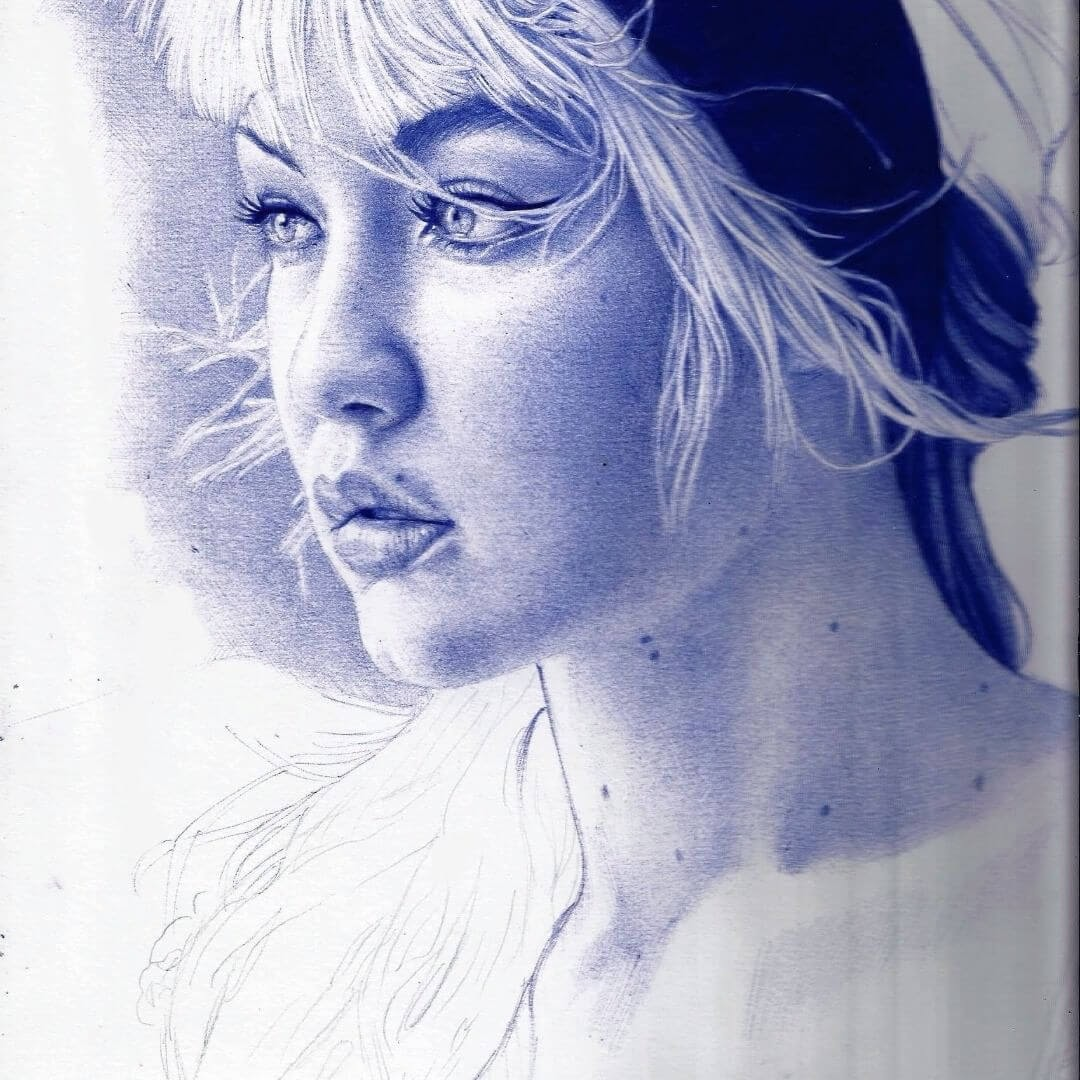 08-Gigi-Hadid-Sonia-Davel-Indelible-Ballpoint-Pen-Portraits-www-designstack-co