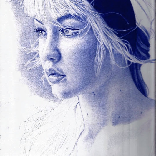 Indelible Ballpoint Pen Portraits
