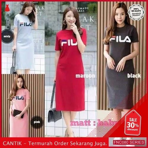 FNC080D54 Dress Wanita Fila 4 Wanita Warna Kekinian 40 Ribuan