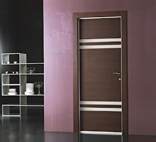 model pintu minimalis elegan satu pintu www.rumah-hook.com