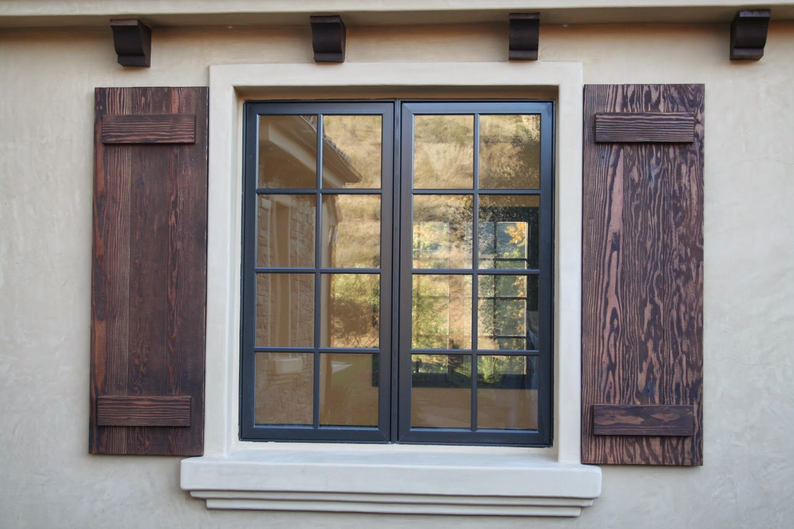Ring in the new year in a new home - Exterior wood shutters for windows ...