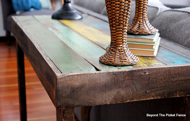 Build a Colorful Rustic Table From Pallet Wood