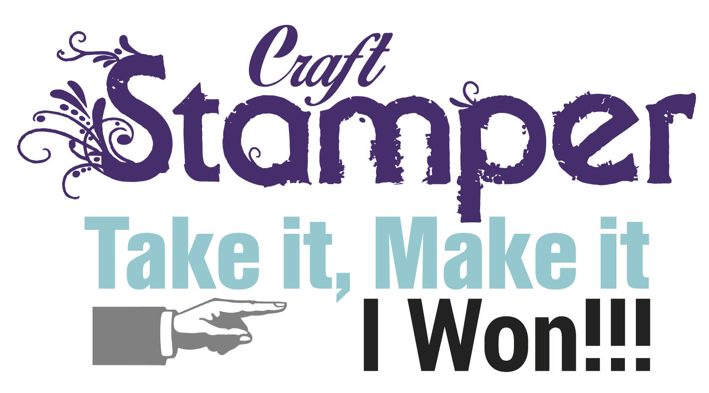 Incredibly proud and totally thrilled to be Craft Stamper TIMI Challenge Winner,August 2018