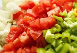 салат из красных помидор
