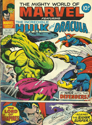 Mighty World of Marvel #257, the Hulk vs the Defenders, Dracula vs the Silver Surfer