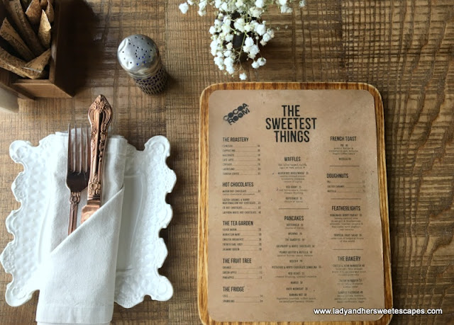 The Sweetest Things on Cocoa Room's menu