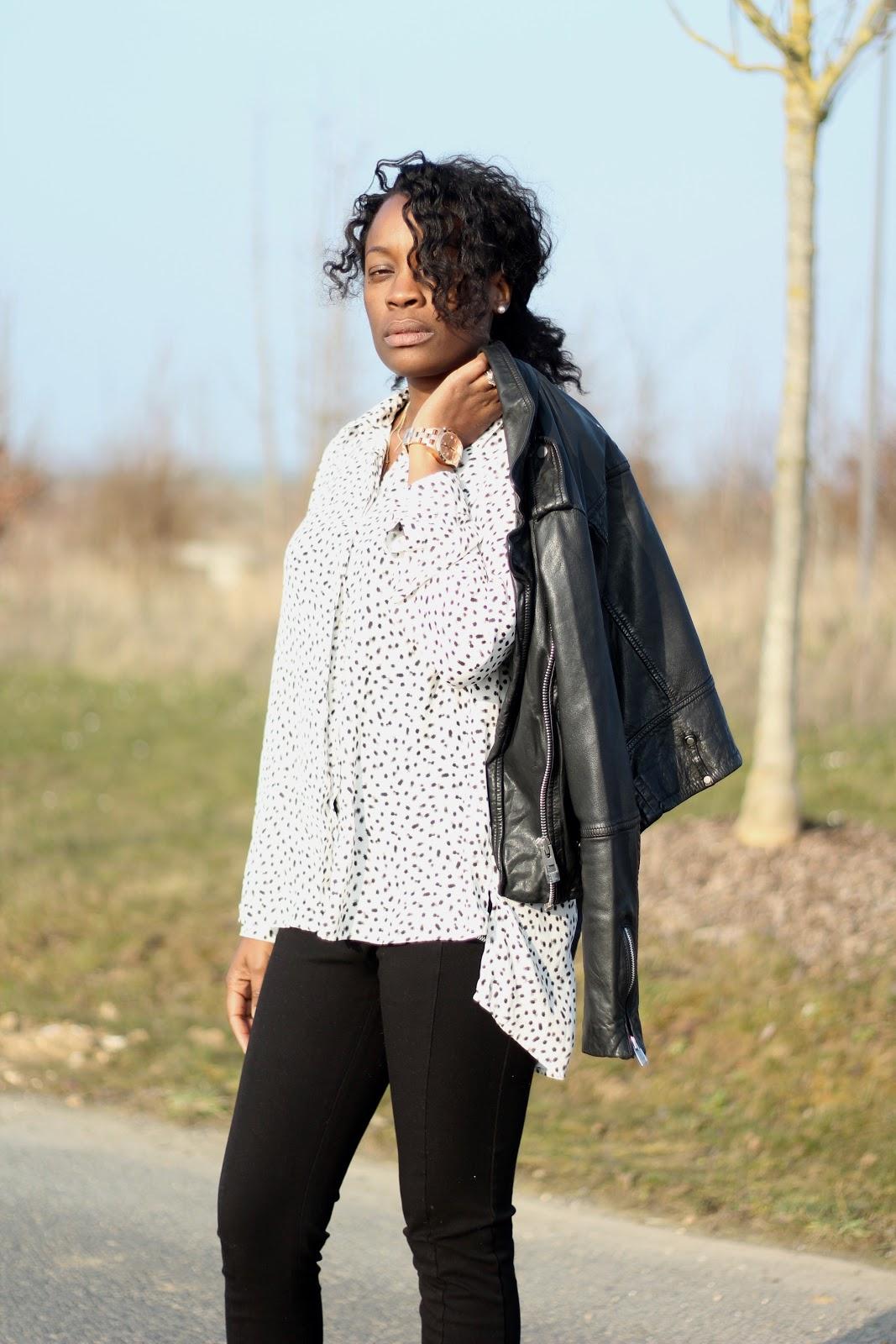 tenue mango- la fille fauchee- fashion blogger