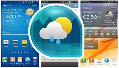 تطبيق Weather & Clock Widget الشهير لتتبع حالة الطقس - كامل للأندرويد