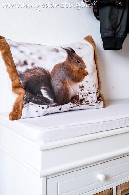 Zierkissen mit Eichhörnchen