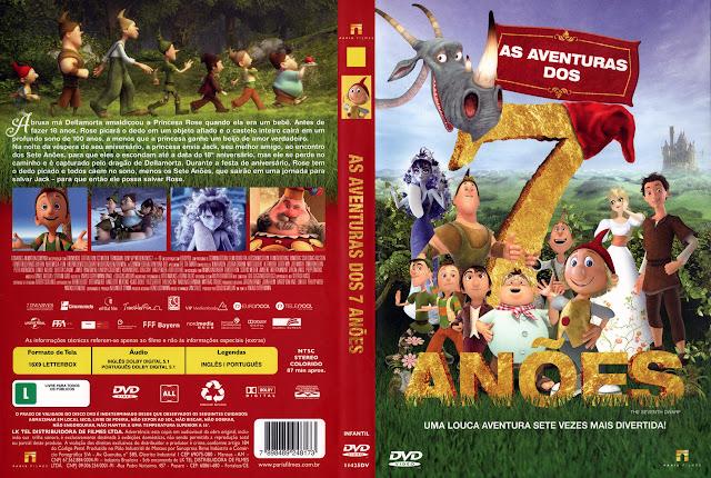 Capa DVD AS AVENTURAS DOS 7 ANÕES