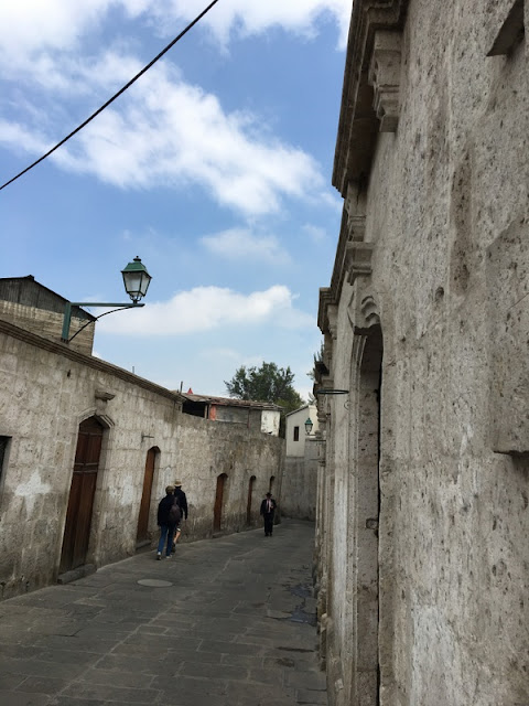 colonial buildings in Arequipa, Peru